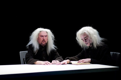 Percy Elphinborough III (left) in a pre-Larry the Cable Guy production of Samuel Beckett's Ohio Impromptu