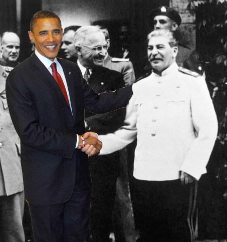 Obama Shaking Hands with Stalin
