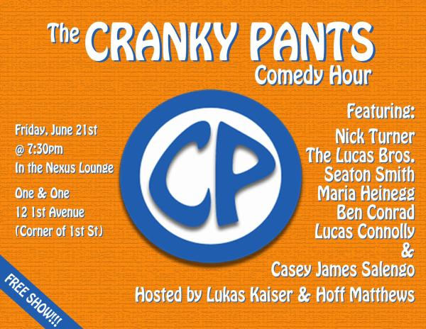 The Cranky Pants Comedy Hour, 6/21/13