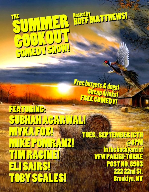 The Summer Cookout Comedy Show, September 2014