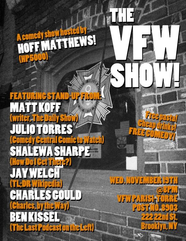 The VFW Show (November)