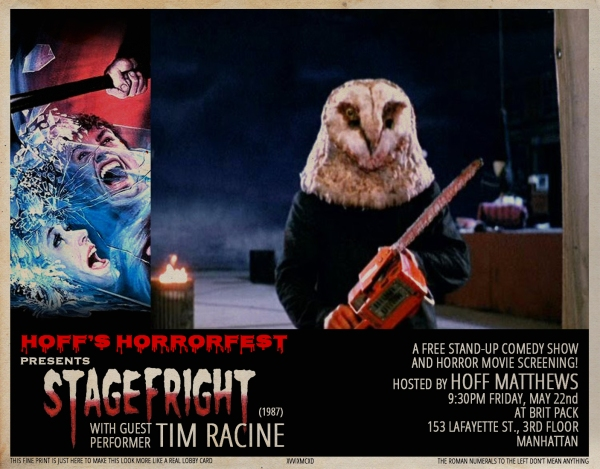 Hoff's Horrorfest Presents: STAGEFRIGHT!