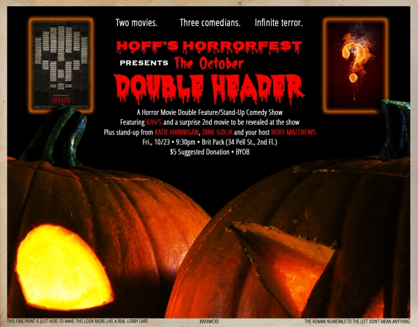 Hoff's Horrorfest Presents: The October Double Header!